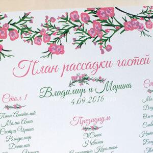 План рассадки гостей «Flora one 1»